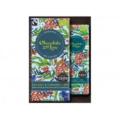 Organic chocolate tablet Sea Salt & caramel 80g