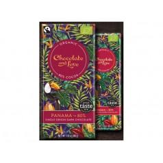 Organic chocolate tablet black Panama 80g
