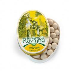 Boîte ovale Bonbons Citron Bio 50g