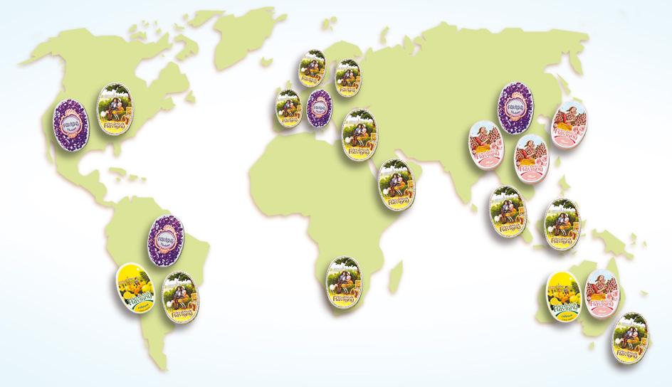 Carte du monde avec nos bonbons